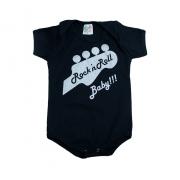 Body Bebê Rock'In Roll Preto