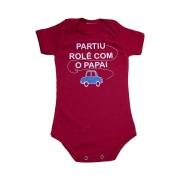 Body Bebê Rolê Com O Papai Vermelho