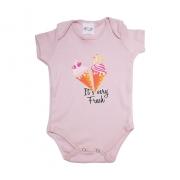 Body Bebê Sorvete Rose