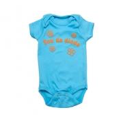 Body Bebê Sou Da Dinda Azul Com Laranja