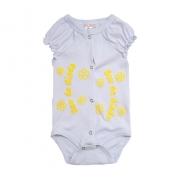 Body Bebê Sou Da Dinda Branco com Amarelo