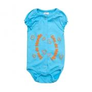 Body Bebê Sou Da Mamãe  Azul Com Laranja