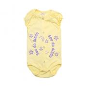 Body Bebê Sou Do Dindo Amarelo com Lilás