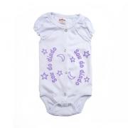 Body Bebê Sou Do Dindo Branco com Lilás