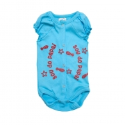 Body Bebê Sou Do Papai Azul com Vermelho
