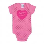 Body Bebê Sweet Heart Rosa