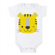 Body Bebê Tigre Branco