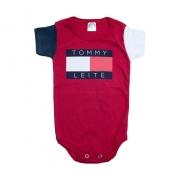 Body Bebê Tomy Leite Vermelho