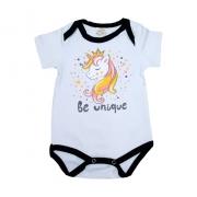 Body Bebê Unicórnio Branco