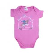 Body Bebê Unicórnio Pink