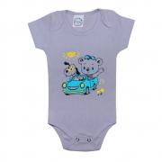 Body Bebê Ursinho Cinza
