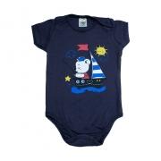 Body Bebê Urso Marinheiro Marinho