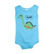 Body Regata Bebê Dino  Azul