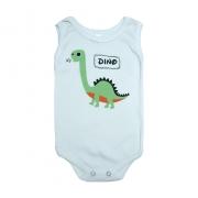 Body Regata Bebê Dino Pérola