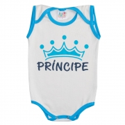 Body Regata Bebê Príncipe Pérola