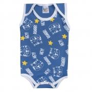 Body Regata Bebê Tigre Azul