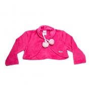 Bolero Soft Bebê/Infantil Com Pompom Pink