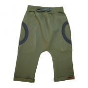 Calça Bebê Saruel Com Bolso Verde Militar