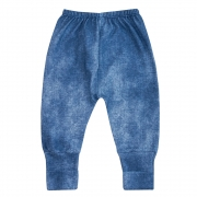 Calça Bebê Vira Pé Azul Jeans