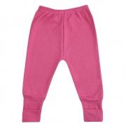 Calça Bebê Vira Pé Pink