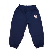 Calça Infantil Aplique Coração Marinho