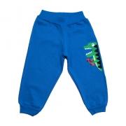 Calça Infantil Aplique Dino Azul