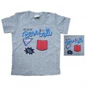 Camiseta Bebê Baiseball Mescla