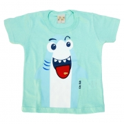 Camiseta Bebê Shark Verde
