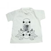 Camiseta Bebê Skate Pérola
