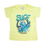 Camiseta Bebê Surf Amarelo