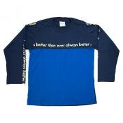 Camiseta Infantil Com Recorte Azul