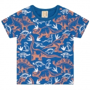 Camiseta Infantil Dinos  Royal