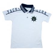 Camiseta Infantil Gola Polo Club Branca