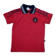 Camiseta Infantil Gola Polo Club Vermelho