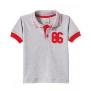 Camiseta Infantil Gola Polo Mescla