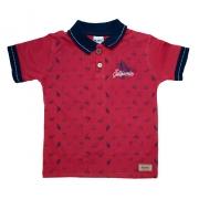 Camiseta Infantil Gola Polo Summer Vermelho