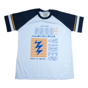 Camiseta Infantil Good Vibes Branca