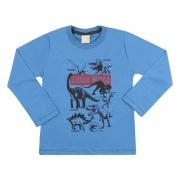 Camiseta Infantil Jurassic World Azul