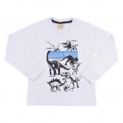 Camiseta Infantil Jurassic World Branca