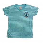 Camiseta Infantil Listras Azul