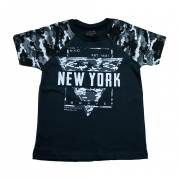 Camiseta Infantil New York Chumbo