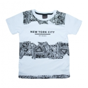 Camiseta Infantil New York City Branco