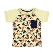Camiseta Infantil Raglã Tigre Amarela