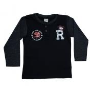 Camiseta Infantil Rugby Preta