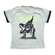 Camiseta Infantil T-Rex Cinza