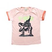 Camiseta Infantil T-Rex Laranja