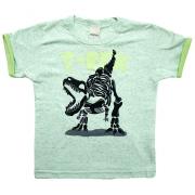 Camiseta Infantil T-Rex Verde