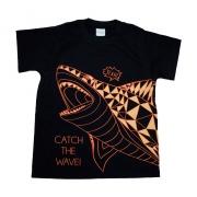 Camiseta Infantil Tubarão Preto