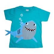 Camiseta Infantil Tubarão Verde
