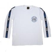 Camiseta Juvenil Manga Longa State Branca